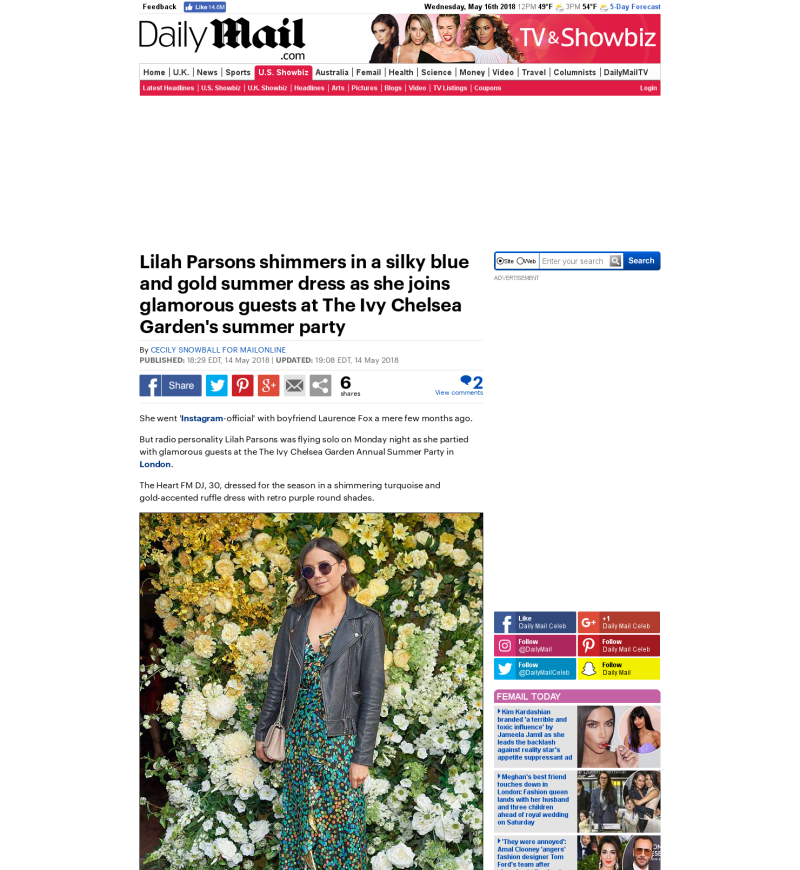 Lilah Parsons Press | InterTalent Rights Group